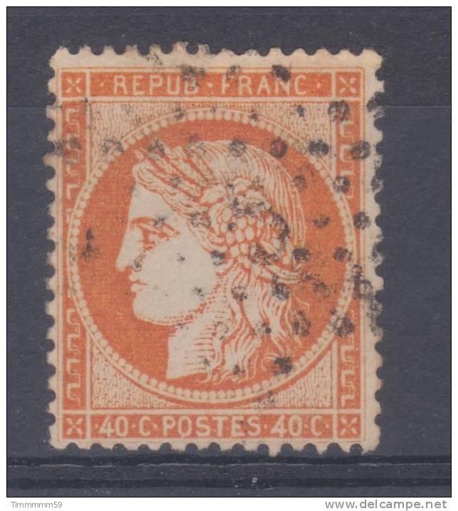 Lot N°14333  Variété/n°38, Oblit étoile Chiffrée 3 De PARIS (Pl. De La Madeleine), Fond Ligné, Filet SUD - 1870 Siege Of Paris