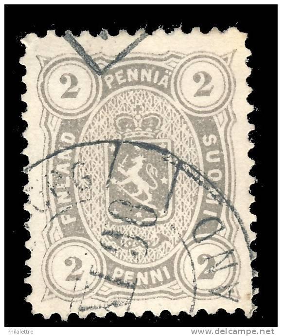 FINNLAND - 1882 - MiNr12Bya / Yv.13 2p PERLGRAU G12 1/2 Gebraucht (mitteres Papier - 100 Mikron) - Used Stamps