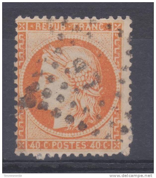 Lot N°14357  Variété/n°38, Oblit Ambulant LP, Taches Blanches Gréque EST - 1870 Siege Of Paris
