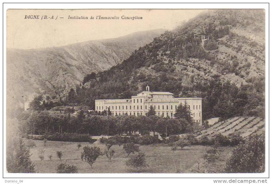 Cpa Du 04-DIGNE- Institution De L'immaculée Conception - Digne