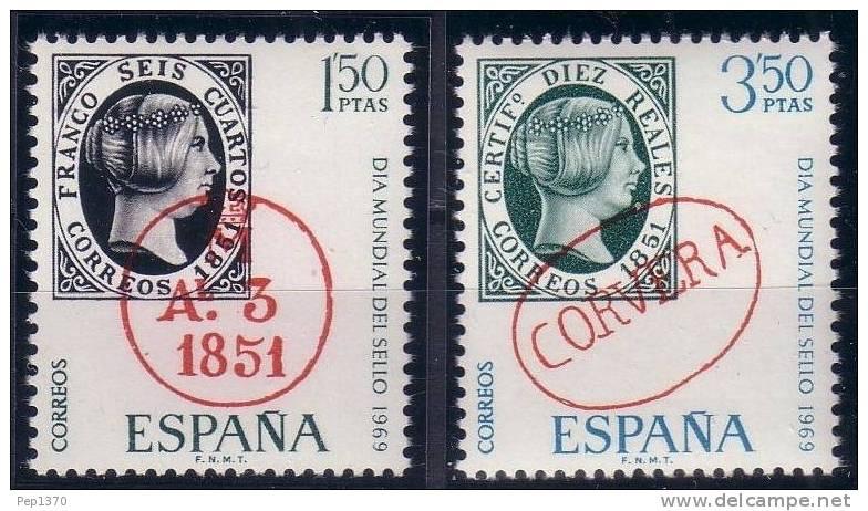 ESPAÑA 1969 - DIA DEL SELLO - EDIFIL Nº 1922/1923 - YVERT 1573-1574 - 1931-Aujourd'hui: II. République - ....Juan Carlos I