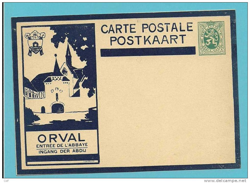 """Geillustreerde Kaart Met  ORVAL """" ENTREE DE L'ABBAYE / INGANG DER ABDIJ """" (niet Gebruikt) - Illustrat. Cards"""