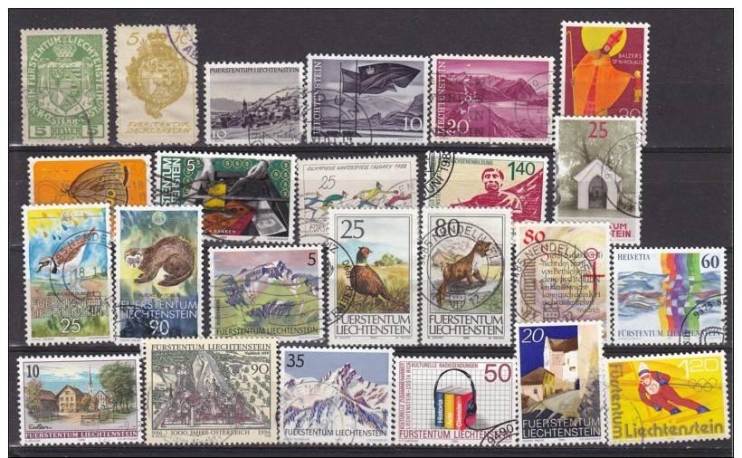 LIECHTENSTEIN - Lot De 24 TP Différents Ente N° Y&T 5 Et 1078   - Tous Oblitérés - Collections