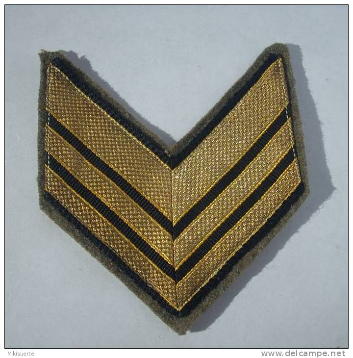 MIL20 Militaria Grado Di Sergente Maggiore In Stoffa - Scudetti In Tela