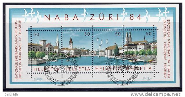 SWITZERLAND 1984 NABA ZÜRI  Block USED.   Michel Block 24 - Switzerland