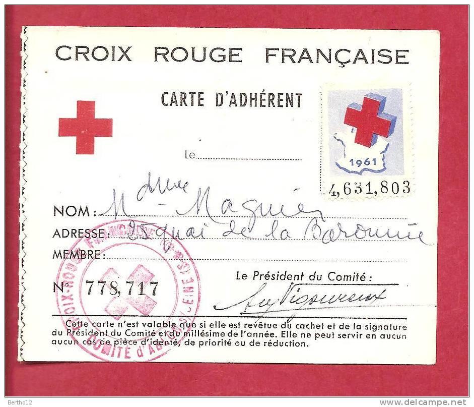 Croix Rouge Carte D Adhérent - Historische Dokumente