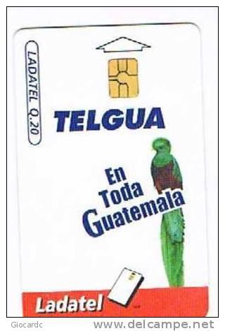 GUATEMALA - TELGUA / LADATEL - 2000 UCCELLI (BIRDS: QUETZAL)      - USED (°) - RIF. 671 - Guatemala