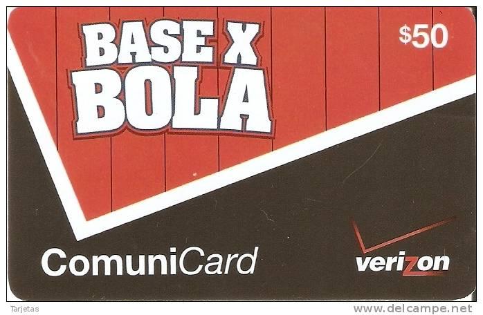 TARJETA DE REP. DOMINICANA DE 50$ BASE X BOLA DE VERIZON - Dominicana