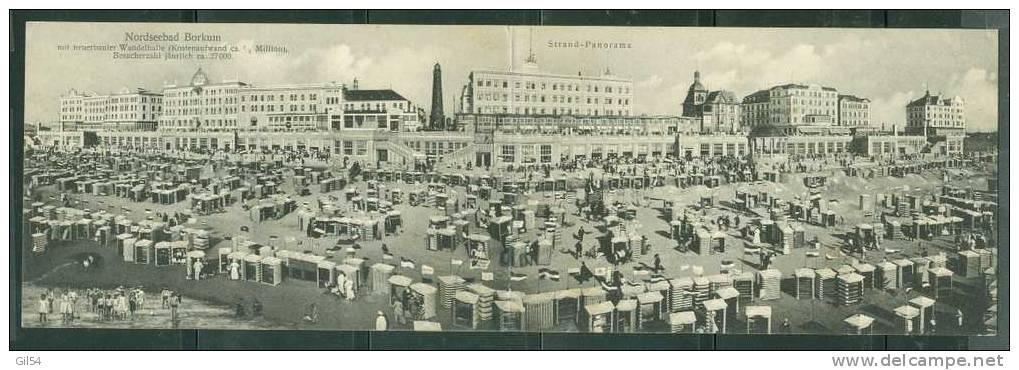 Nordseebad - Borkum  - Strand-panorama- Phi92 - Borkum