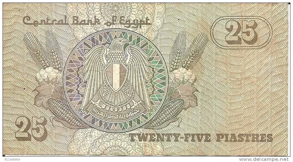 25 Twenty - Five  Piastres  - Central Bank Egypt - Egypt