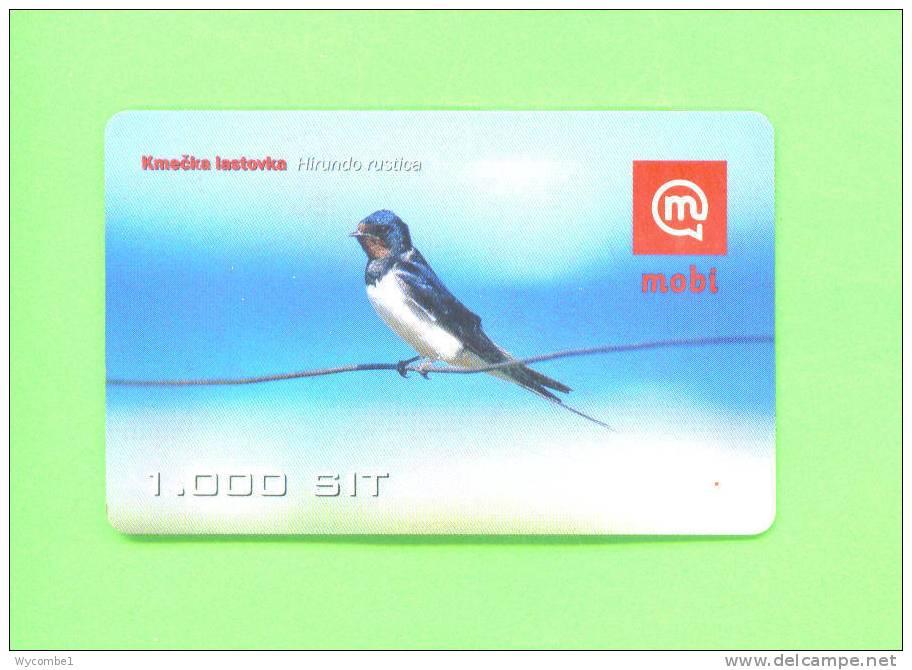 SLOVENIA  -  Remote Mobitel Phonecard/Bird - Slovénie