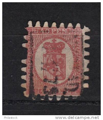 FINLANDE N° 9 Obl . Perf T III (défectueux) - 1856-1917 Russian Government