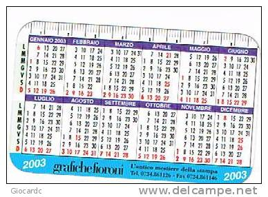 CALENDARI TASCABILI - 2003  GRAFICHE FIORONI (SANDRO TROTTI: ROMA 1998 OLIO SU TELA) - Calendari