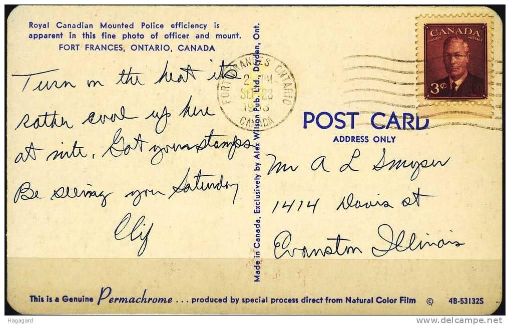 Q295. Canada 1953. Postcard Used. - Cartes Modernes