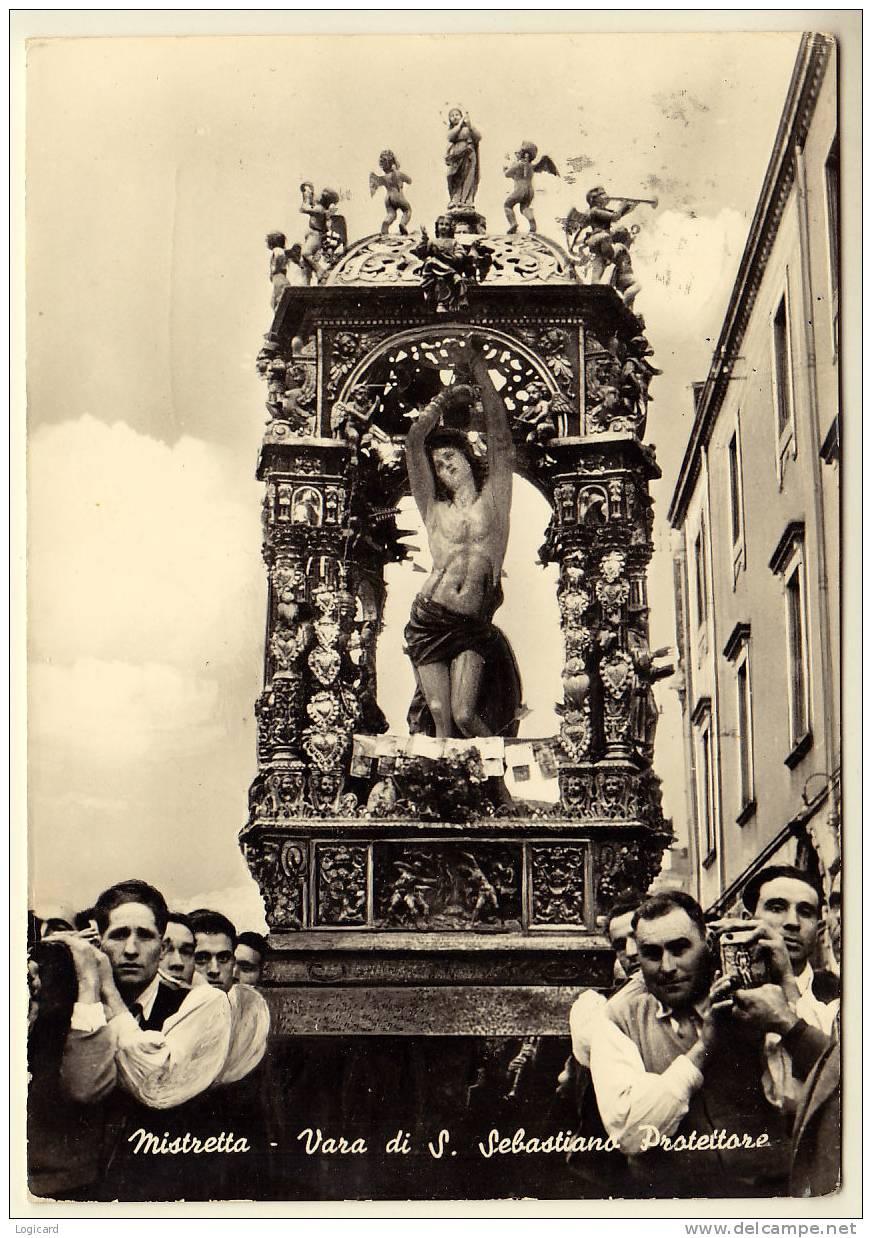 MISTRETTA (ME) LA VARA DI SAN SEBASTIANO IL PATRONO DEL PAESE ANIMATA 1970 - Messina