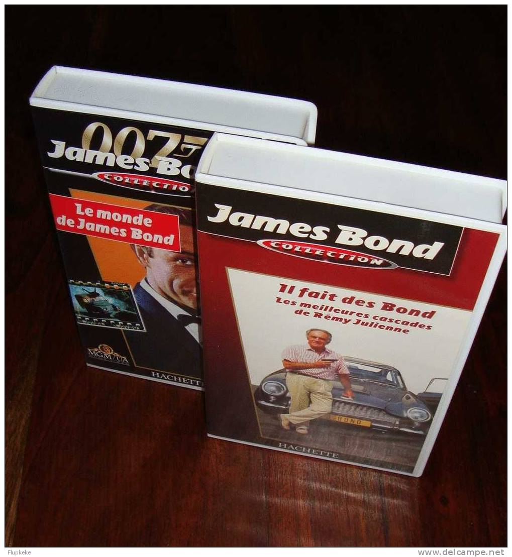 James Bond Collection Hachette 2 VHS Le Monde De James Bond + Les Meilleures Cascades De Rémy Julienne - Documentaires
