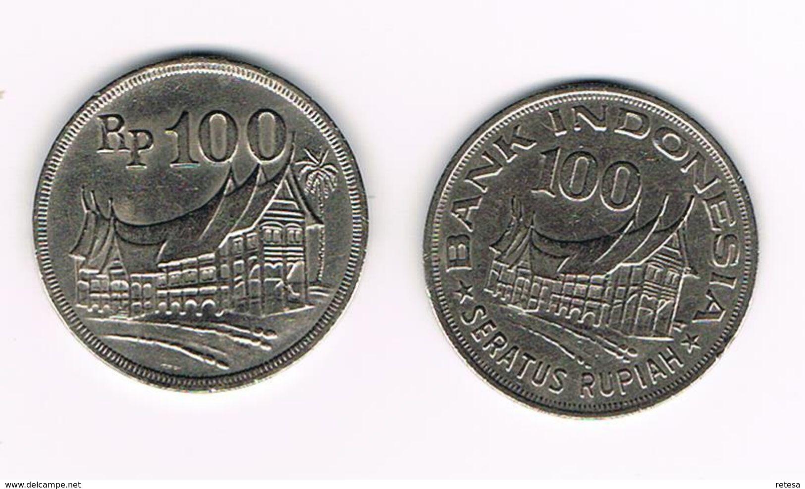 &-  INDONESIE  2 X 100 RUPIAH  1973/1978 - Indonésie