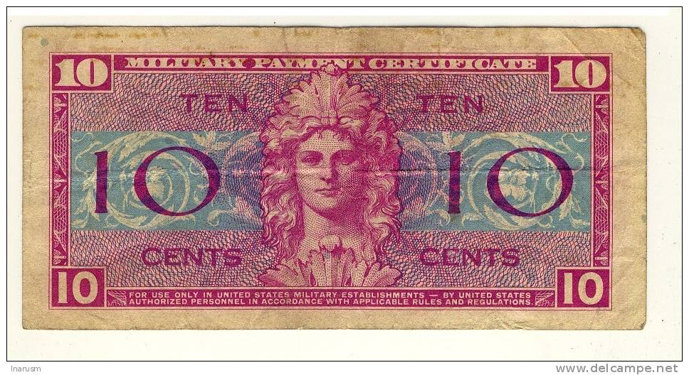 USA  -  MILITARY PAYMENT CERTIFICATE  -  10 CENTS  -  SERIES  521  -  P. M30 - Militaire Betaalcertificaten (1946-1973)