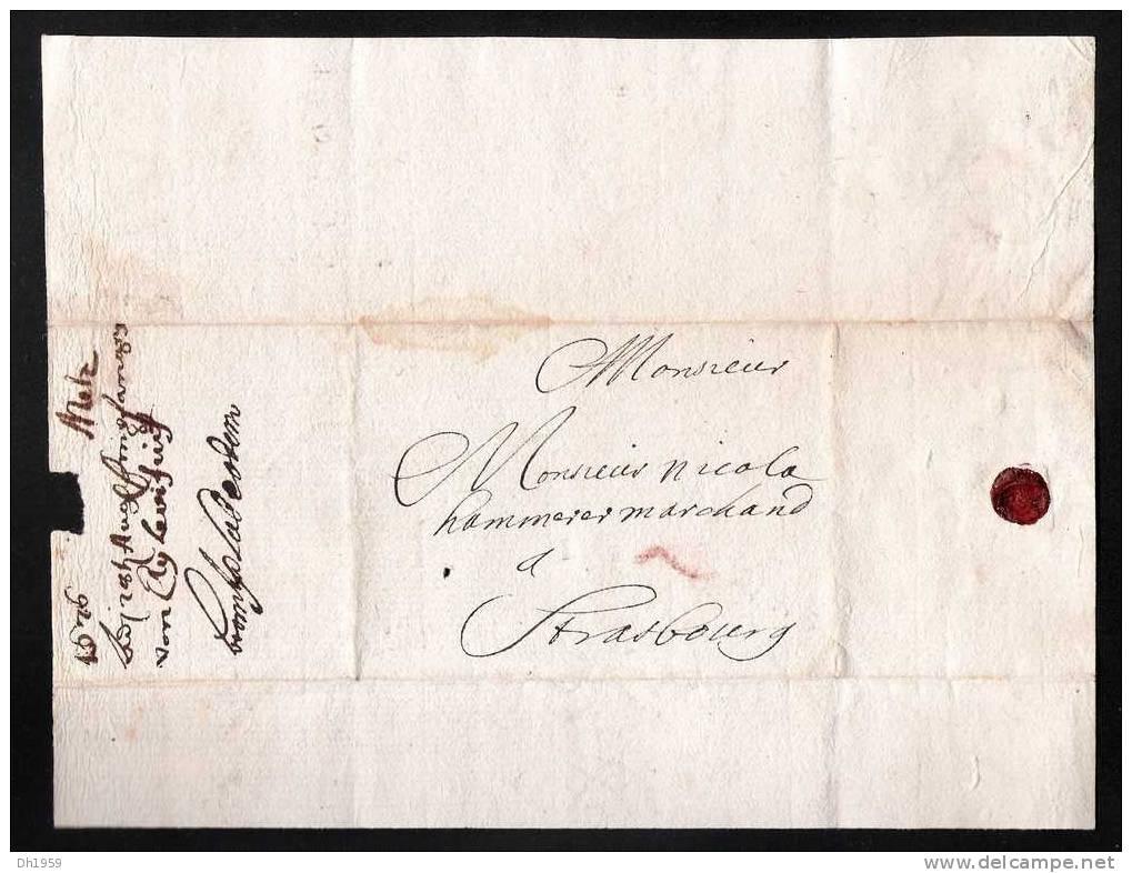 LETTRE JUDAICA 1676 SIGNE EN HEBREU REGNE DE LOUIS XIV GHETTO DE METZ  LORRAINE POUR UN COMMERCANT A STRASBOURG ALSACE - Documents Historiques