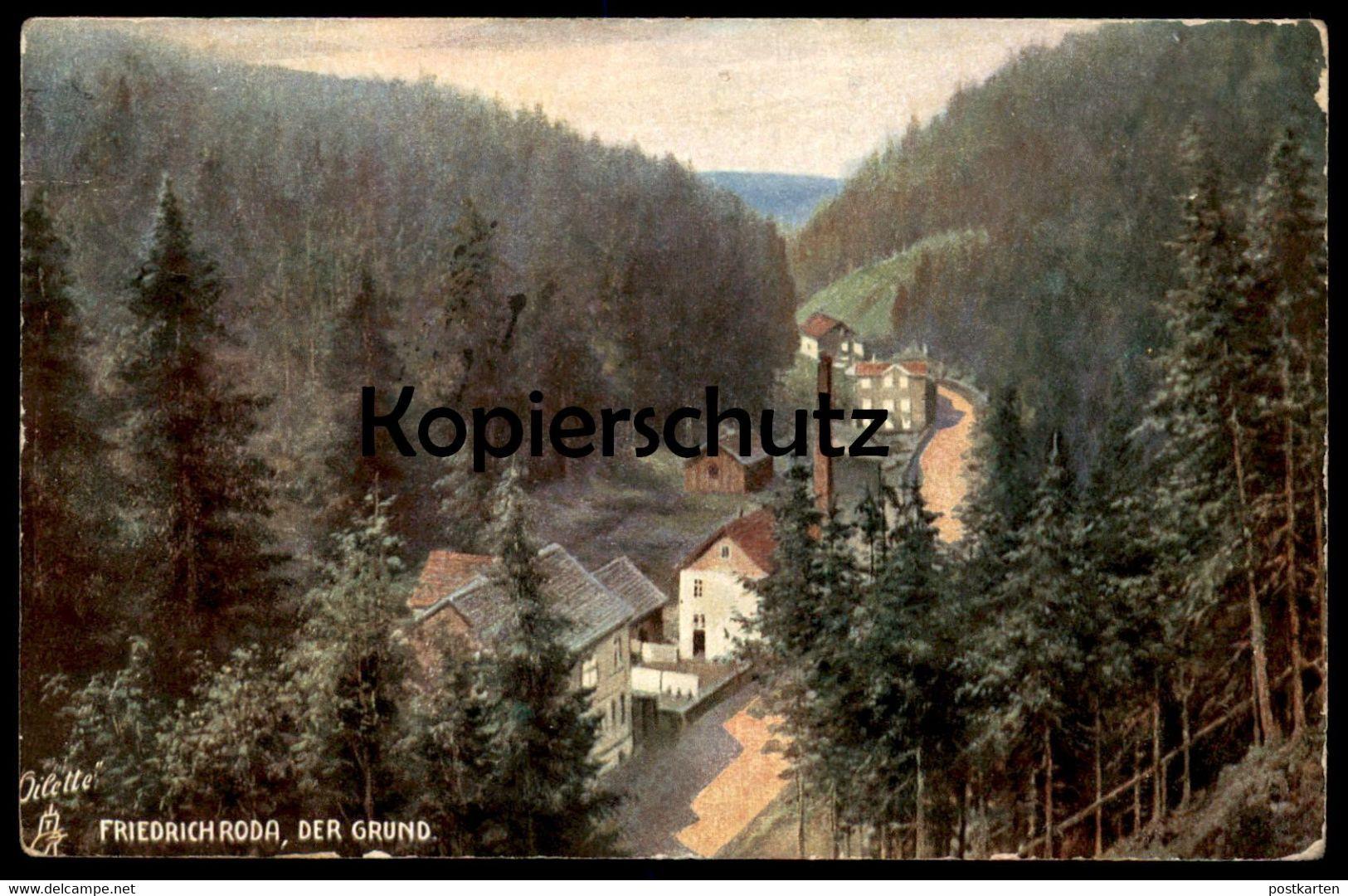ALTE KÜNSTLER POSTKARTE FRIEDRICHRODA DER GRUND RAPHAEL TUCK TUCK'S OILETTE No. 649 B Ansichtskarte AK Postcard Cpa - Tuck, Raphael