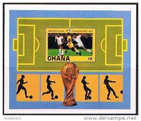 Soccer Football Fussball Ghana Bl 97 1982 World Cup Spain MNH ** - World Cup