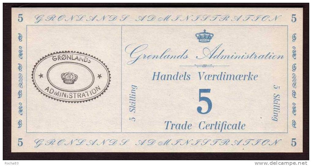Billet - GROENLAND - 5 Skilling ( 1942 ) Militaire - Pick M 9 - Groenland