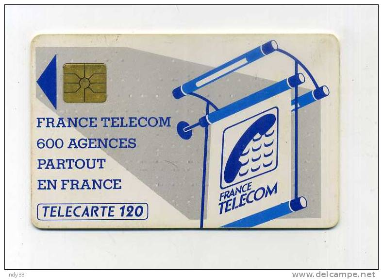 - FRANCE TELECARTE 600 AGENCES . - France