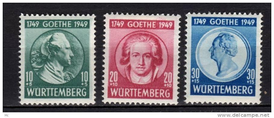 Wurtemberg N°  46 / 48 Neufs Avec Charnière * - Französische Zone