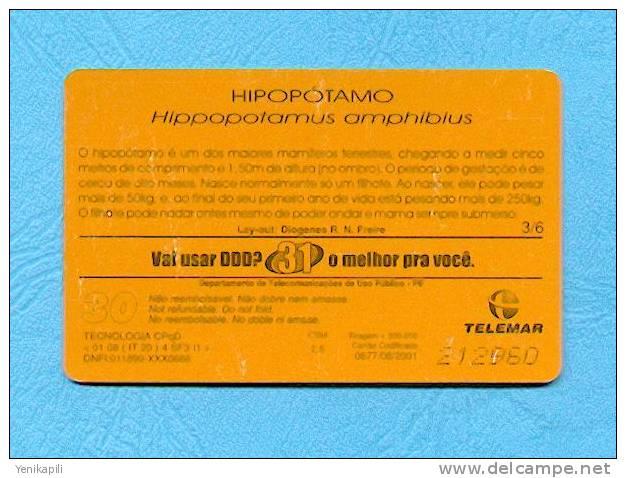 (  4506  ) - Carte Téléphonique BRESIL - (  Thèmatique Animaux / Hippopotame  ) - *** TTBE / EC *** - Voir Scan - - Falkland