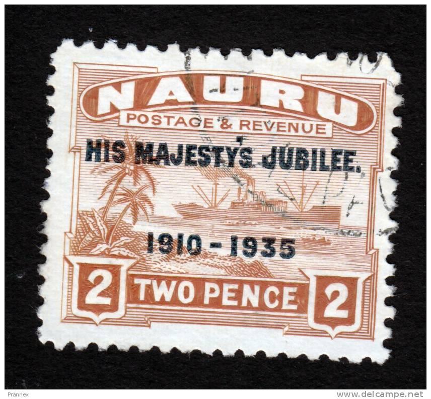 Nauru, Scott #32, Used, Freighter Overprinted, Issued 1935 - Nauru