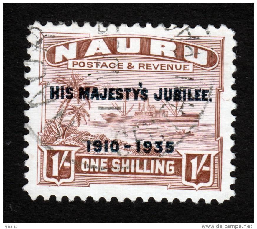 Nauru, Scott #34, Used, Freighter Overprinted, Issued 1935 - Nauru