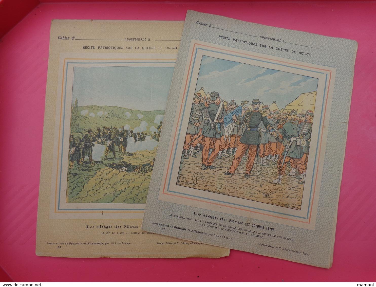 2 Protege Cahier Recits Patriotiques N° 61-49 Sous Reserve-+-1 Protege Cahier Ou Dossier --pub Stylo Librairie Gilbert - Protège-cahiers