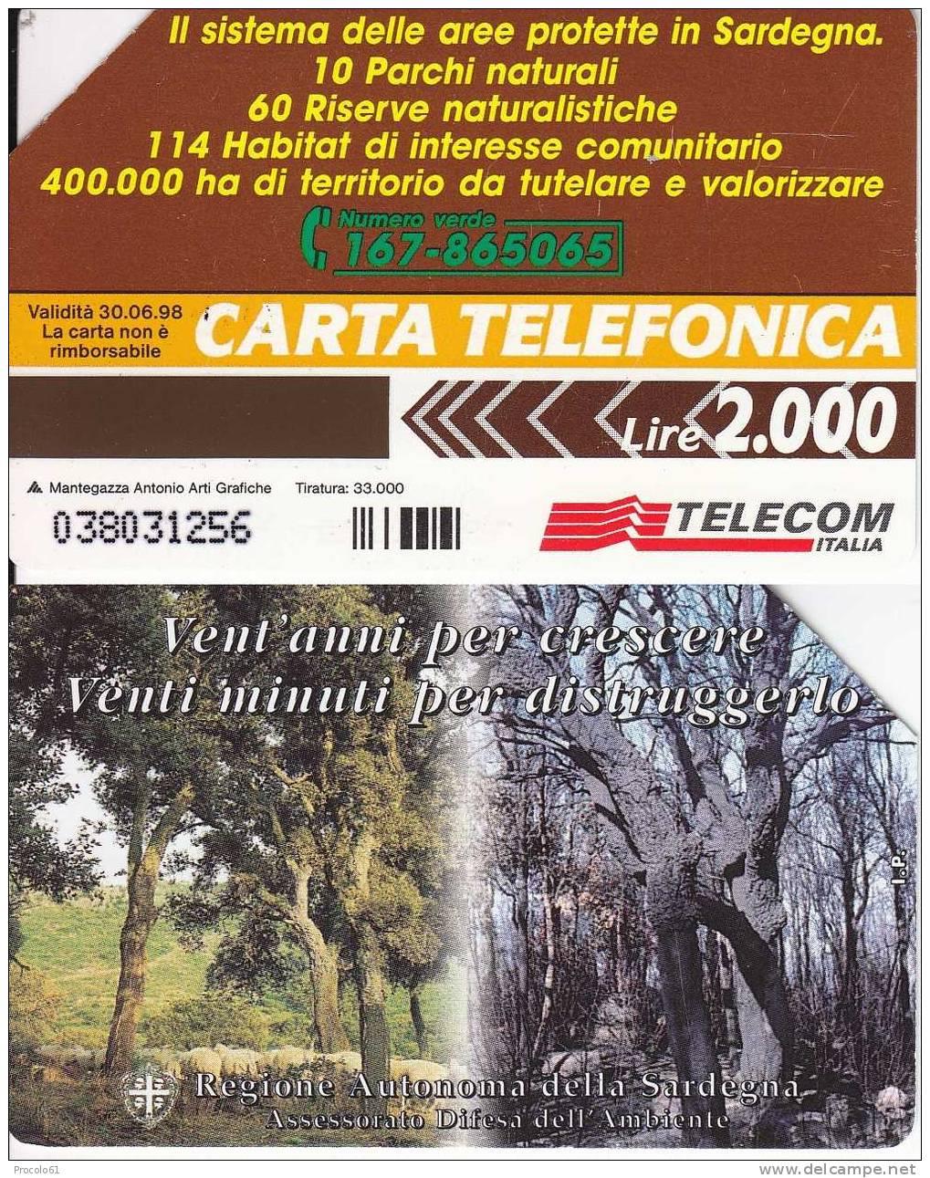 PRIVATE RESE PUBBLICHE GOLDEN 300 REGIONE SARDEGNA 2.000 Tiratura 33.000 - Pubbliche Pubblicitarie