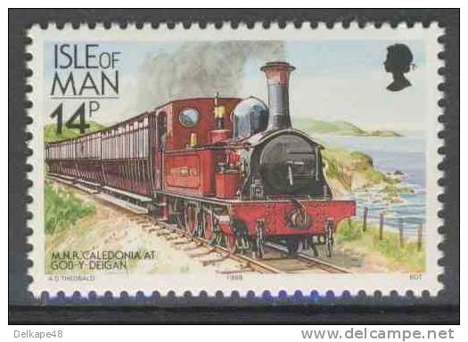 Isle Of Man 1988 Mi + YT 357 ** M.N.R. Caledonia At Gob-Y-Deigan / Nordeisenbahn / Northern Railway - Treinen