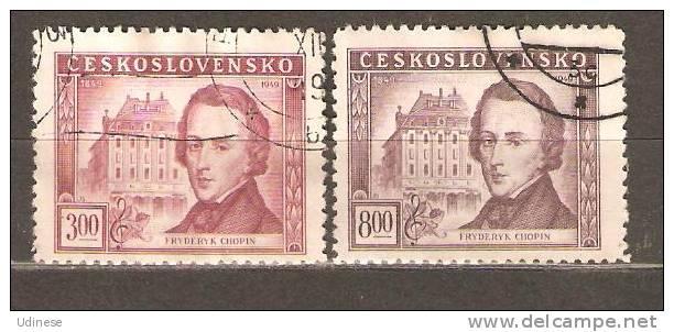 CZECHOSLOVAKIA 1949 - CHOPIN - CPL. SET - USED OBLITERE GESTEMPELT - Czechoslovakia