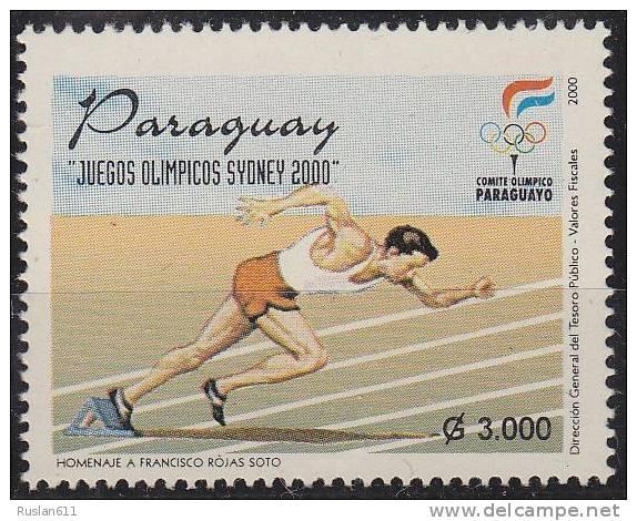 Olympic Games Paraguay 2000 #4821 Sydney MNH ** Athletics - Summer 2000: Sydney