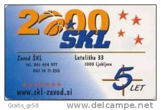 SLOVENIA - SLV 286,Stevila /Numbers, 2/00, 9991ex, Used - Slovénie