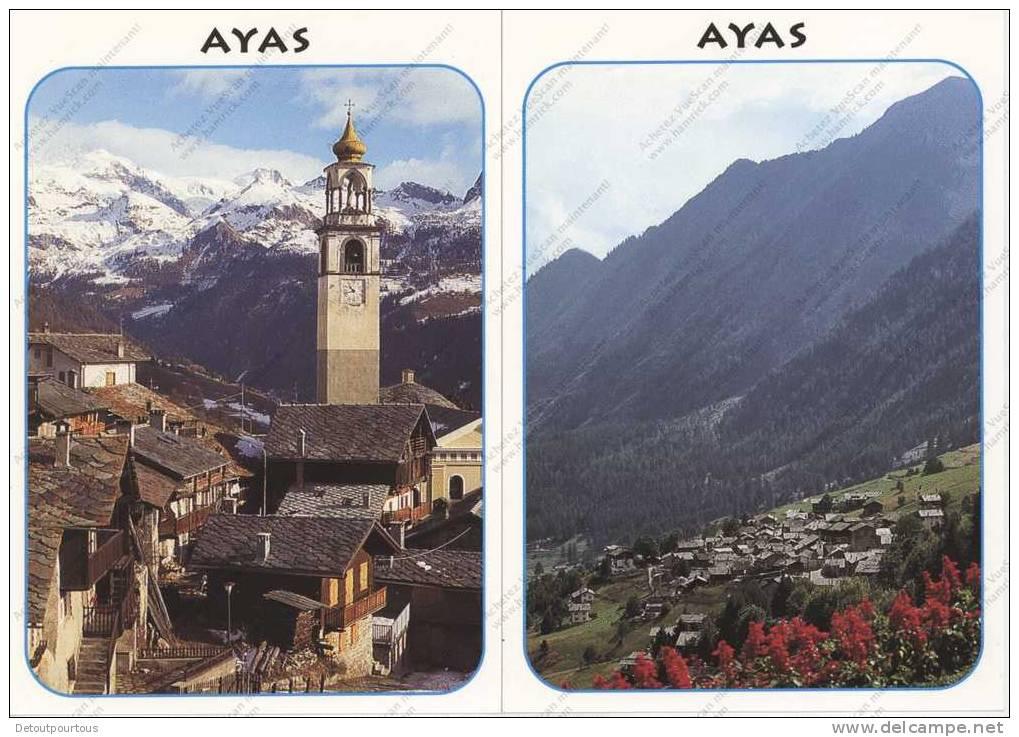 Vallée D'Aoste Val D'AYAS : Lot 2 Cp Village De LIGNOD Et ANTAGNOD ( 2 Cartoline ) - Italia