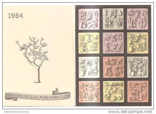 56830)calendario Casa Di Redenzione Sociale Anno 1954 - Calendari