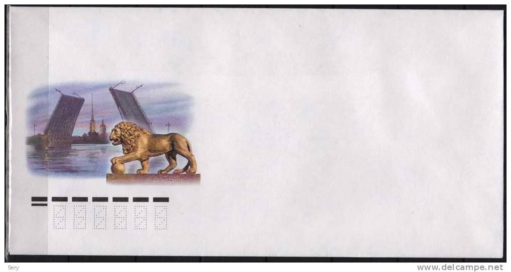 Russia Cover Pont Levis Lion Sculpture - Ponti