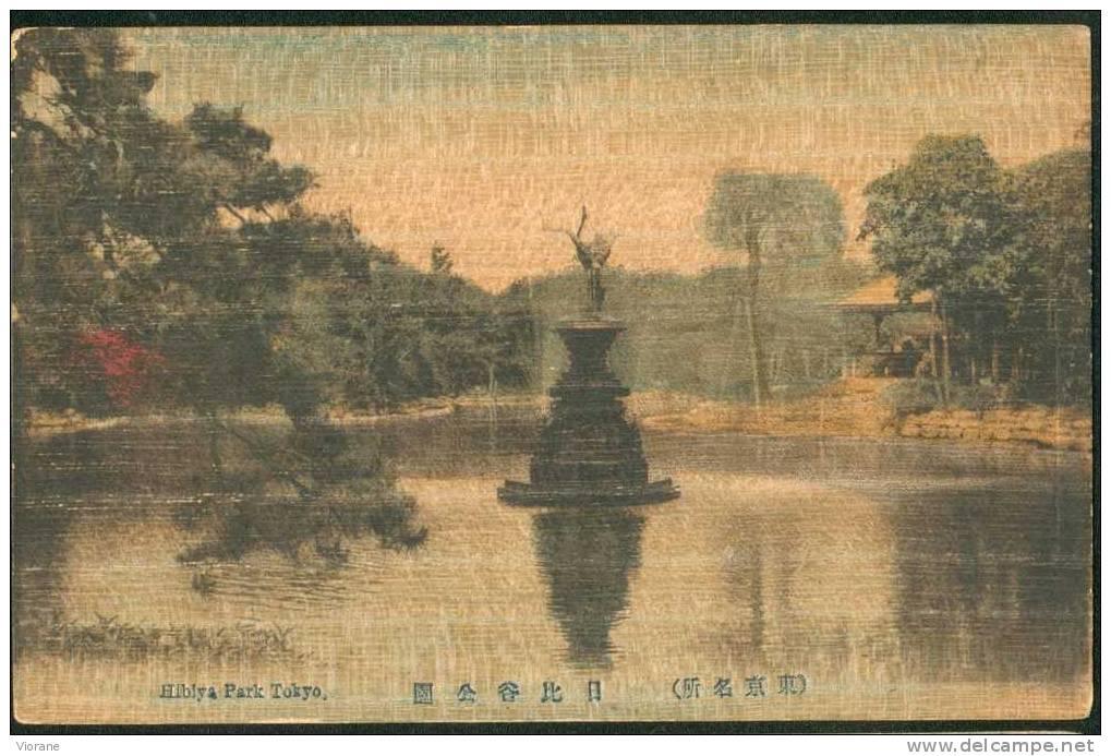 Hibiya Park Tokyo .  Carte Support Bois - Tokio