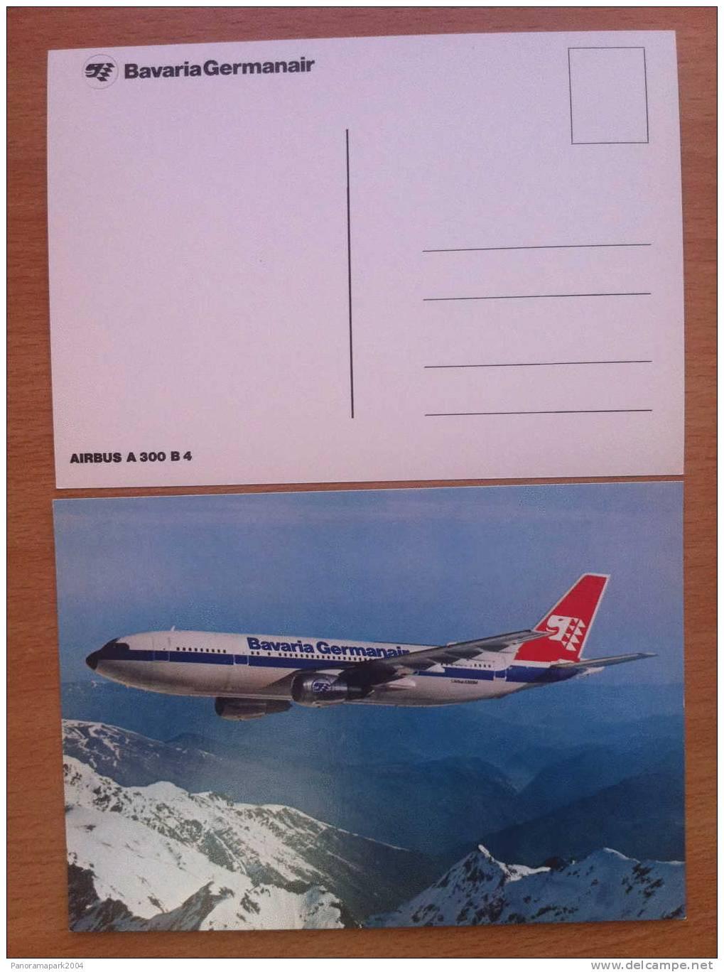 FRANCE CARTE POSTALE BAVARIA GERMANAIR AIRBUS A300 B4 AVION PLANE FLUGZEUG - 1946-....: Modern Era
