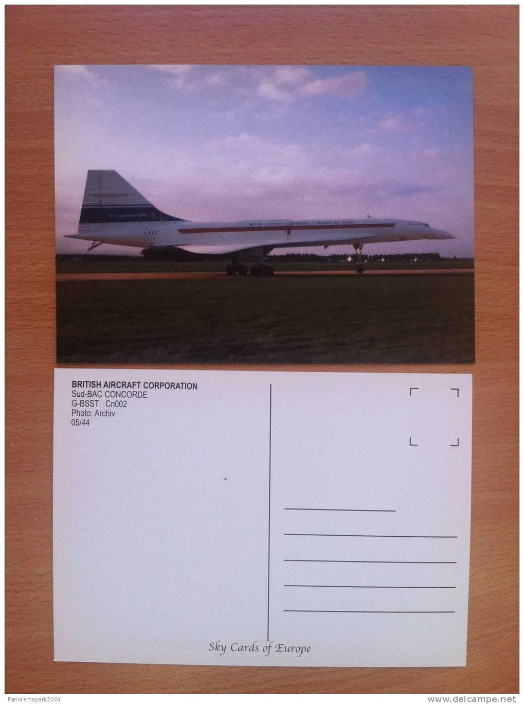 FRANCE CARTE POSTALE BRITISH AIRCRAFT CORPORATION CONCORDE AVION PLANE FLUGZEUG - 1946-....: Modern Era