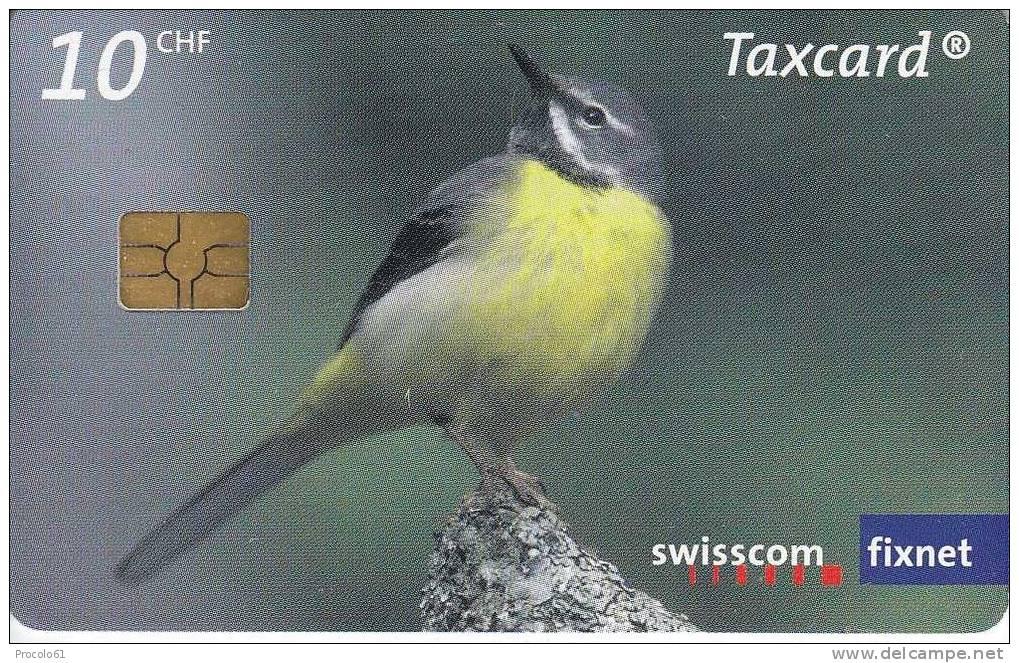 SVIZZERA SWISSCOM TAXCARD FIXNET WWF SMARAGD 10 CHF Us. - Non Classificati