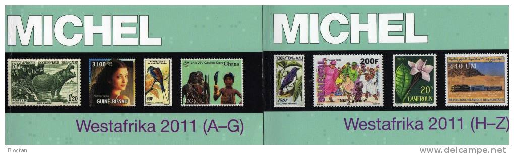 Afrika Band 5 Teil I+II MlCHEL 2 Kataloge 2011 Neu 128€ A-Z : Benin Gambia Ghana Guinea Liberia Mali Niger Senegal Togo - Ohne Zuordnung