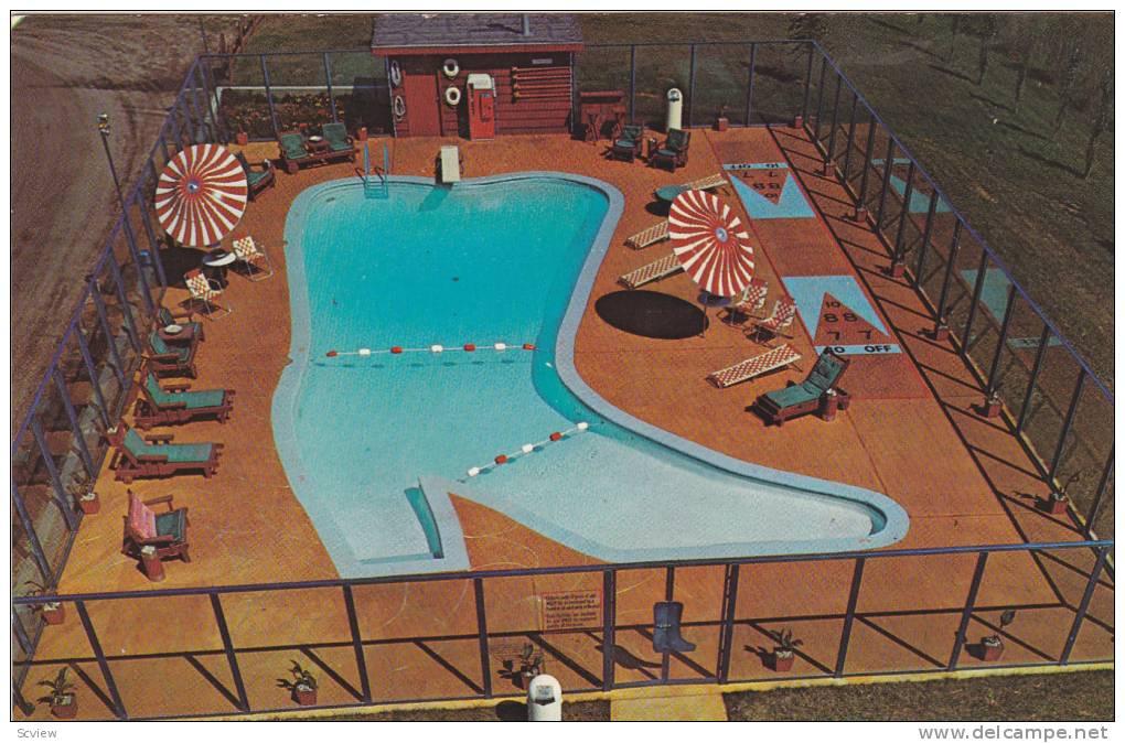 Swimming Pool, Westward Ho Motel, Grand Forks, North Dakota, 1940-1960s - Grand Forks