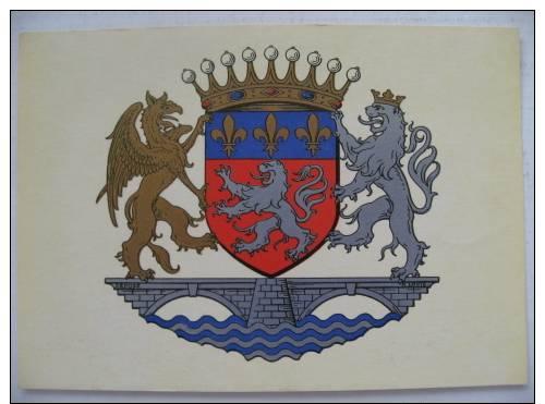 Ancienne Carte Postale Héraldique Blason  LYONNAIS    R. Louis - Rhône-Alpes