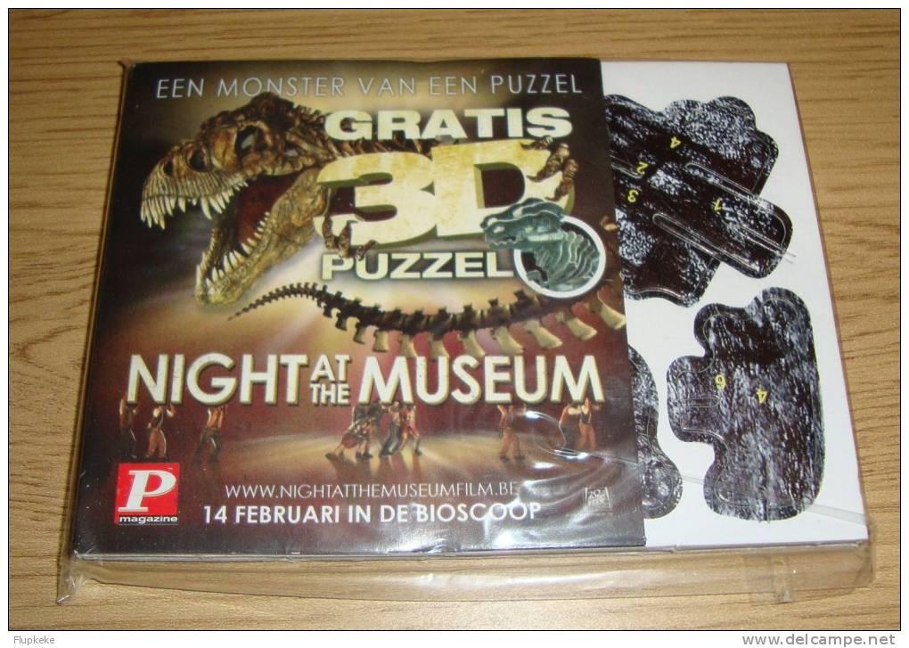 Un Puzzle 3D Monstrueux La Nuit Au Musée Night In De Museum ( à L´occasion De La Sortie Du Film En Belgique ) - Puzzles