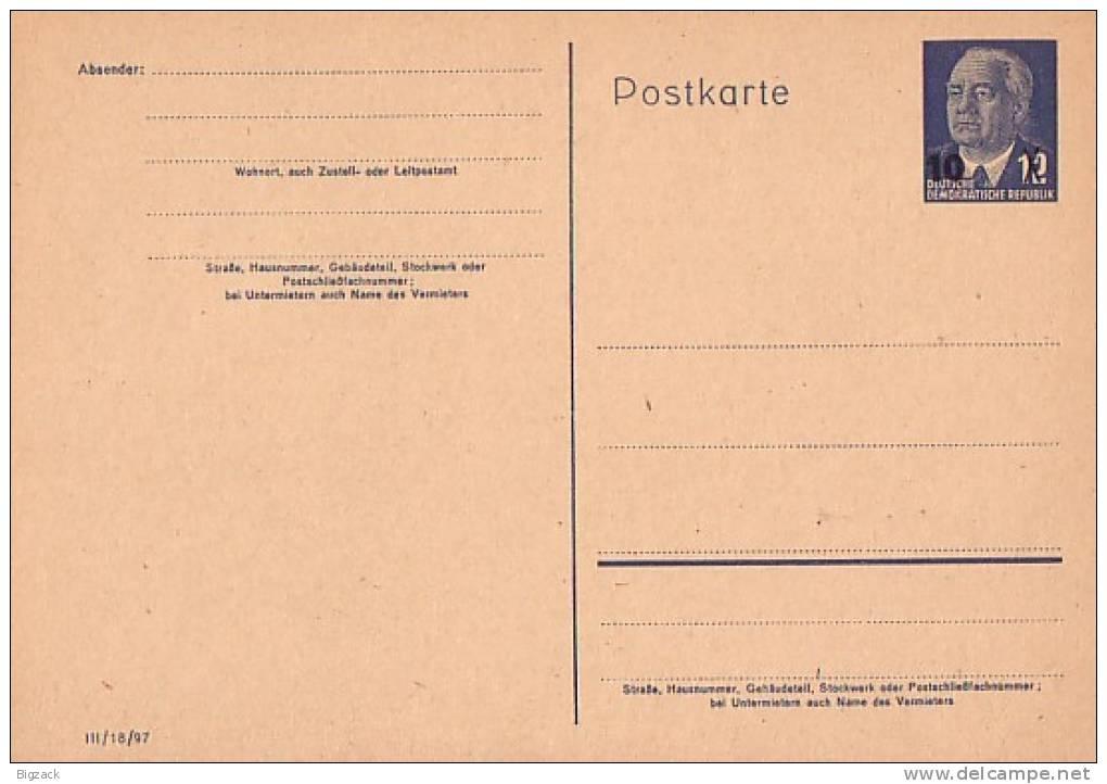 DDR Ganzsache Minr.P62 Postfrisch - DDR