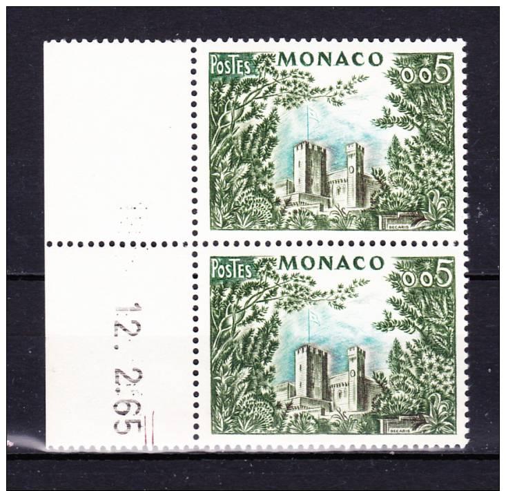 MONACO   1960/65  , Def´s Set , Landscape, Y&T  # 538 X 2  , Cv  0.30 E  , ** M N H , V V F - Non Classificati